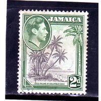 Ямайка.Ми-123.Кокосовая пальма в Бухте Коламбус.Серия: Король Георг VI и сцены Ямайки.1938.