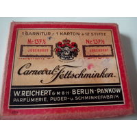 Старинная упаковка немецких пудровых карандашей для грима,12 шт.Фирмы W.REICHERT.BERLIN-PANKOW.Начало XX-го века.