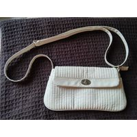 Легкая сумочка молочного цвета, кожзам, новая