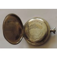 """Корпус и часть механизма на карманные часы """"LONGINES"""". Швейцария. Диаметр 4.8 см. Диаметр механизма 3.8 см. Не исправные."""