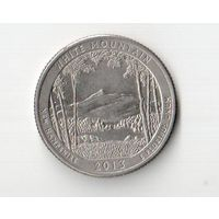 25 центов 2013 D США (квотер White Mountain National Forest, Нью Гэмпшир) KM# 542