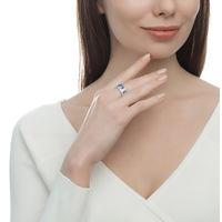 Кольцо с эмалью и фианитами 16.5 размер