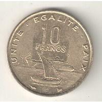 Джибути 10 франк 1996