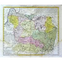 Карта Я.Непрецкого 'Magn Ducatus Lituaniae in suos Palatinatus et Districtus Divisus delineatus a Rever Patre Ioanne Nieprecki', 1749 г. Оригинал