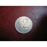2 цента 1991 год Литва