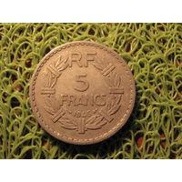 5 франков 1946 франция *742