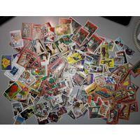 Сборный лот марок без МЦ. Более 400 шт. Есть чистые квартблоки и малые листы.