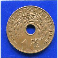 Голландская Индия 1 цент 1945 S