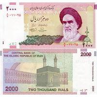 Иран 2000 риалов  2005 год  UNC