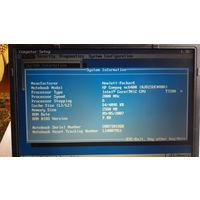 Ноутбук HP Compaq Nc 6400  intel (R) Core (TM) 2 Duo T7200 2.0 GHz / Intel GMA 950 / 256 MB / 2.5 GB DDR2 667/ HDD 80 GB 5400 RPM / DVD +- RW