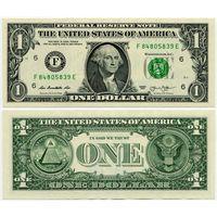 США. 1 доллар (образца 2013 года, F, Джорджия, P537, UNC)