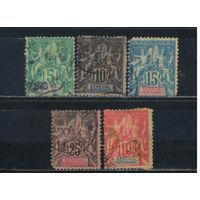 Fr Колонии Сенегал 1882-1900 Вып Мореплавание и Торговля Стандарт #11-3,15,22