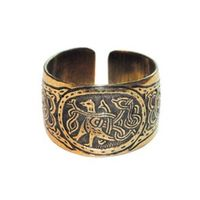 Перстень с изображением птицы