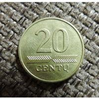 Литва. 20 центов 1998. 333.