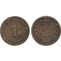 YS: Германия, Рейх, 1 пфенниг 1900F, KM# 10 (1)