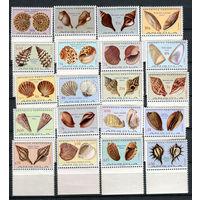 Ангола - 1974 - Морские ракушки - [Mi. 586-605] - полная серия - 20 марок. MNH.