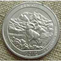25 центов 2012 США - Денали