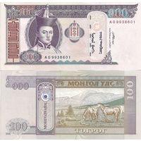 Монголия 100 тугриков образца 2008 года UNC p65b