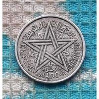 Французская колония Марокко 1 франк 1951-1370 гг.. Пентаграмма.