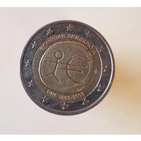 2 евро Греция 2009 10  лет   Экономическому и Валютному союзу