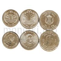 Бангладеш 3 монет 2010-2012 годов