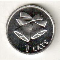 Латвия 1 лат 2012 Колокольчики