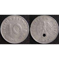 YS: Германия, Третий Рейх, 10 рейхспфеннигов 1941E, КМ# 101