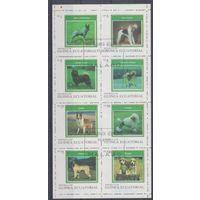 [1079] Экваториальная Гвинея 1977. Фауна.Собаки. Гашеная серия.