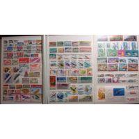 Большой лот чистых марок СССР, транспорт, авиация, железнодорожный транспорт, часть марок в парах, высокая цена каталога