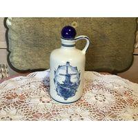 Бутылка фарфоровая Дельф ручная роспись Нидерланды