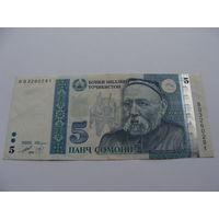 Таджикистан. 5 сомони 1999 год