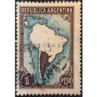 ЦІКАВІЦЬ АБМЕН! 1949, мапа Аргенціны (1)