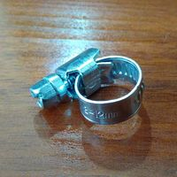 Хомут червячный 8-12 мм., цинк