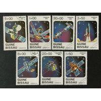 День космонавтики. Гвинея-Бисау,1983,серия 7 марок