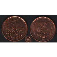 Канада _km490 1 цент 2006 год km490a магнит (L) (f33)