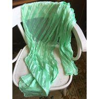 Шаль палантин платок гофрэ цвет позитивный салатовый размер 180 х 50