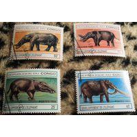 Доисторические животные на марках Конго, 1994