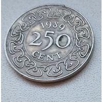 Суринам 250 центов, 1989 6-12-7
