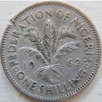 2. Нигерия 1 шиллинг 1962 год