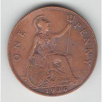 Великобритания 1 пенни 1936 года