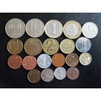 Монеты иностранные, все разные (одним лотом - 20 шт.).