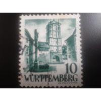 Германия 1948 Вюртемберг фр. зона вход в крепость