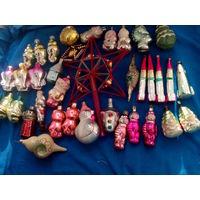 Большой лот нечастых новогодних игрушек одним лотом с 1 рубля без мц!!