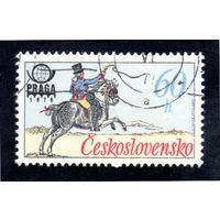 Чехословакия.Ми-2377. Французский почтальон, 19 век. Серия: Историческая почтовая форма. 1977.