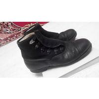 Ботинки антикварные довоенные зимние кожа фетр по типу НАРИМАН