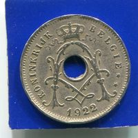 Бельгия 5 сантимов 1922 BELGIE