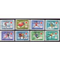 8 марок 1972 год Монголия Олимпиада 667-674