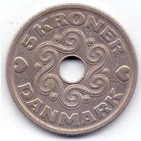 Дания, 5 крон 1990 года.