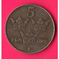 25-06 Швеция, 5 эре 1949 г.