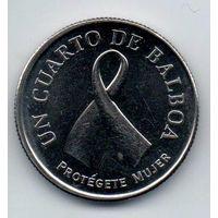 РЕСПУБЛИКА ПАНАМА  1/4 БАЛЬБОА 2008. Защита женщин. Профилактика рака молочной железы.